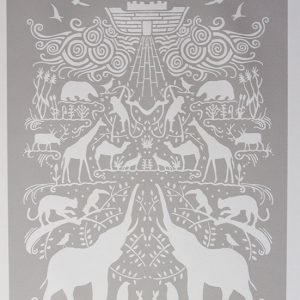 Ark Art Print in Chalk Grey