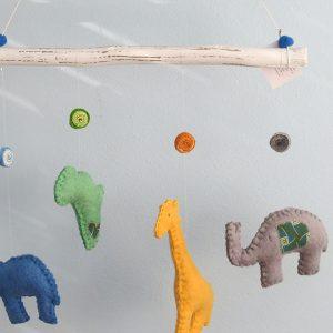 Handmade Felt African Animals Moblie