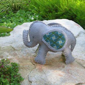 Handmade Felt Elephant