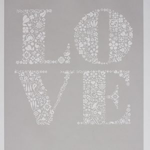 Love Art Print in Chalk Grey
