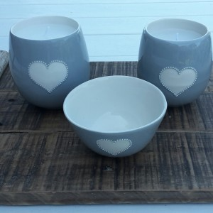 Candles & Bowl Gift Set